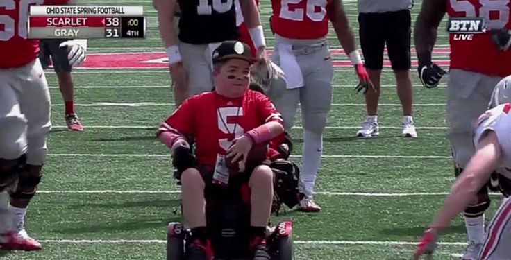 Ohio State's spring game ends with teen with muscular dystrophy scoring touchdown - Washington Post