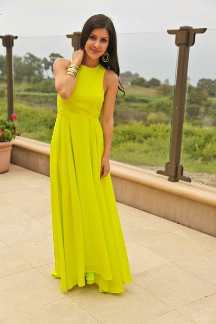 The HONEYBEE Neon long dress