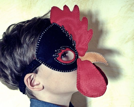 Hen and Rooster Mask PDF Pattern by oxeyedaisey on Etsy