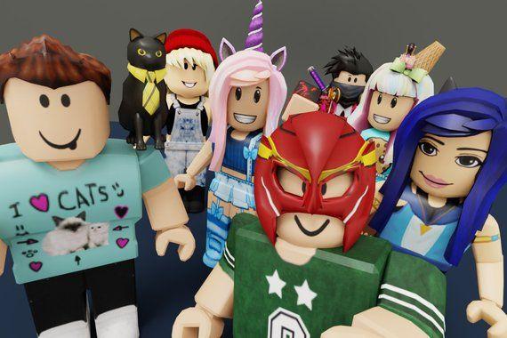 Personalised Roblox Character Custom Printable Youtuber Selfie | The