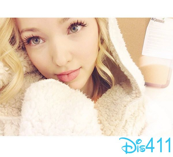 "Photo: Dove Cameron Staying Warm On The Set Of ""Liv And Maddie"" December 15, 2014"