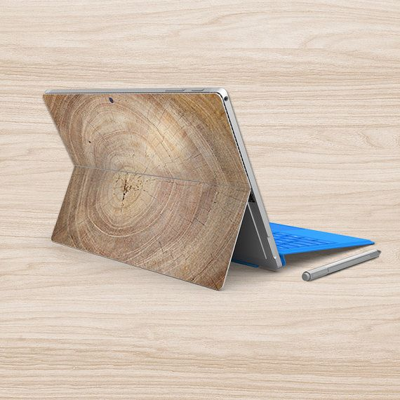 New surface pro sticker back decal wood microsoft surface pro 4 sticker laptop back cover skin