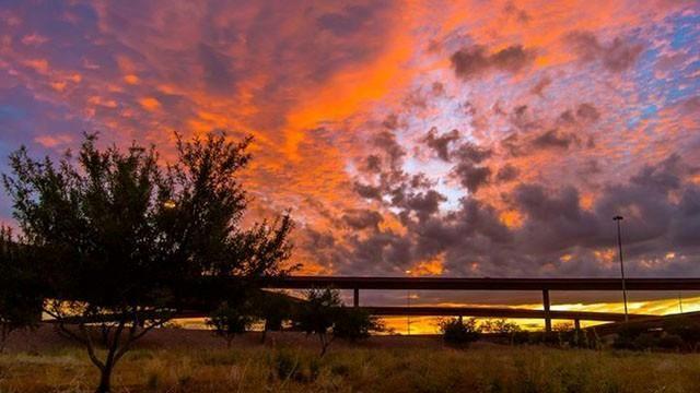Az East Mesa Sunset Sunset Sun Landscape