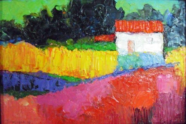 """""""PINTURAS DO SUBSOLO"""" de DOMINGOS DA SILVA: 22. Casa no campo"""