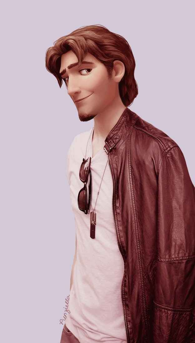 And Flynn Rider in a leather jacket? Well...