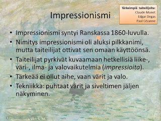 Taidehistoria - Impressionismi.