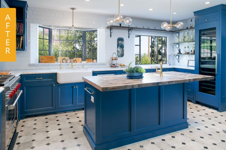 Before & After: A Hollywood Home Gets a Mediterranean Kitchen — Kitchen Remodel