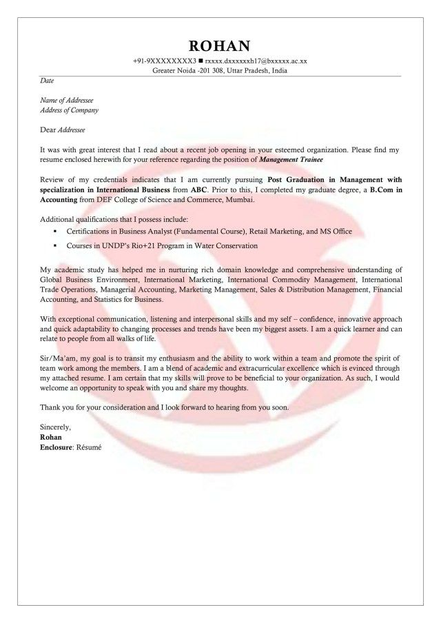 26+ Example Of Cover Letter For Internship . Example Of Cover Letter ...