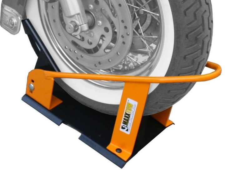 Motorcycle wheel chock maxxtow towing products 70075 bike
