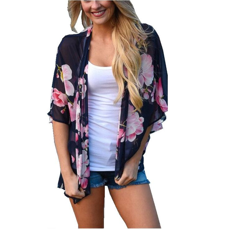 Item specifics Brand Name:WCL Model Number:Blouses & Shirts Material:Polyester Style:Kimono Decoration:None Fabric Type:Chiffon Sleeve Length(cm):Short Clot