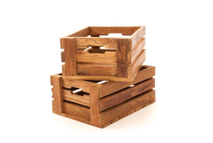 "The Artek Crates are built using salvaged architectural teak, specifically teak that was used in colonial home construction, now salvaged and recreated into these versatile crates.   Small - W20""x D14.25""x H9.25"""