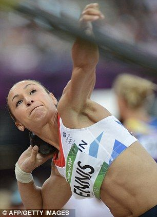 Disappointing: Although far from over Jessica Ennis came ninth in the shot put after recording a highest throw of 14.28