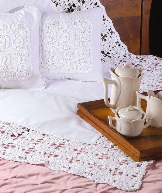 Manta e almofadas de crochê - Portal de Artesanato - O melhor site de artesanato com passo a passo gratuito