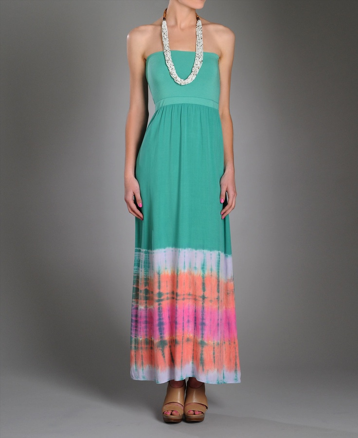 Splendid Circus Tye Dye Maxi Dress- www.southmoonunder.com... pretty colors for spring and summer.