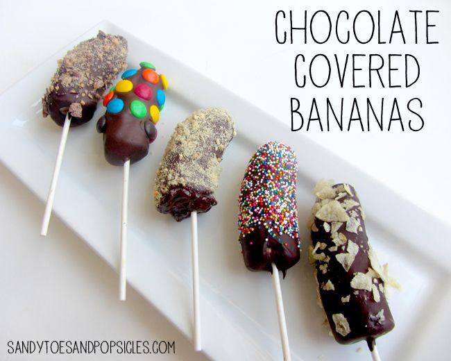 Chocolade-banaan lolly's