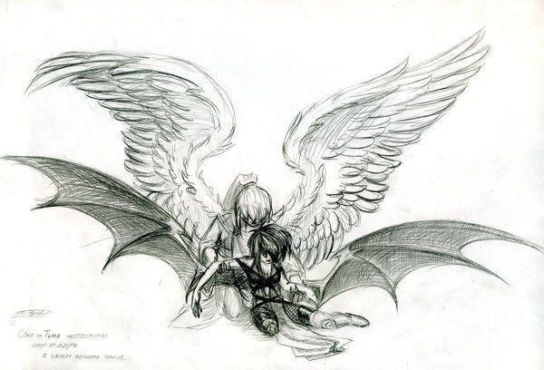 angel and demon by mamonna on deviantart tattoo