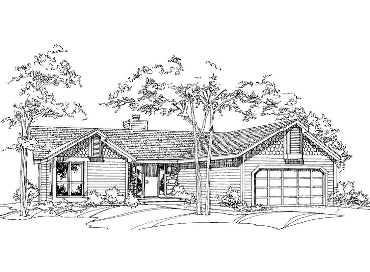 Ranch house plan with 1250 square feet and 2 bedrooms from for 1250 sq ft house plans