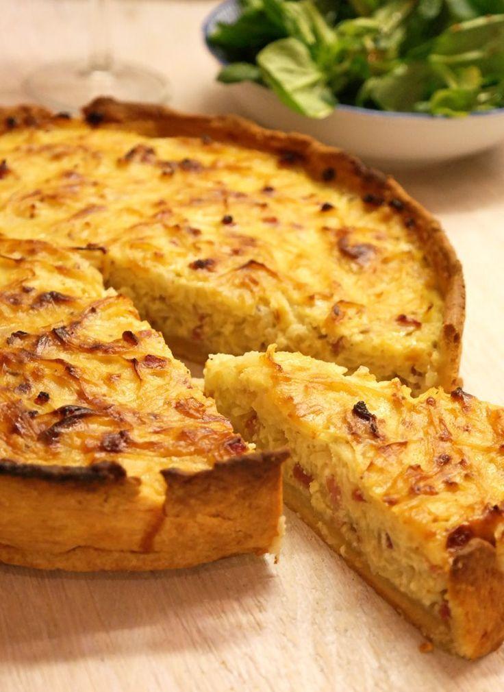 Zwiebelkuchen mit Mürbeteig