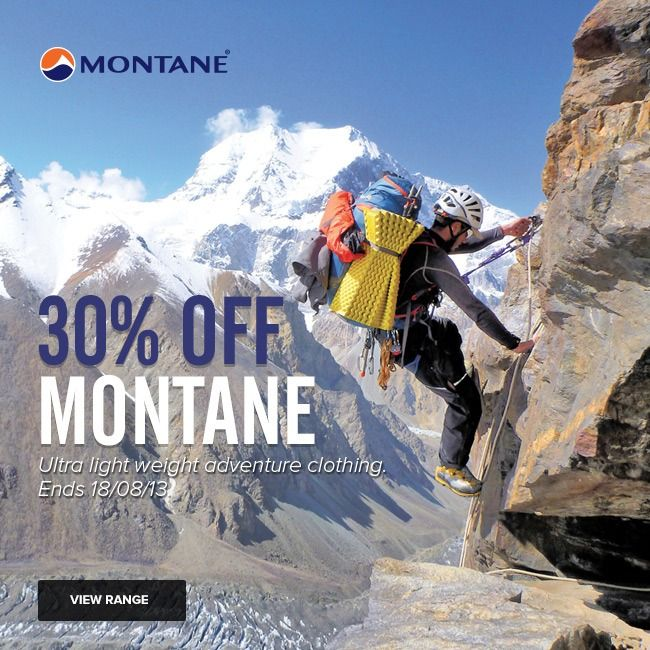 30% OFF All Montane until 18/08/13!  http://www.mainpeak.com.au/brands/montane/ FINISHED!