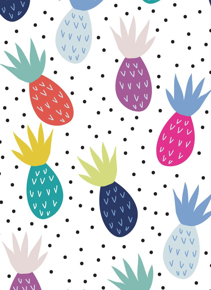 15 tropical pineapple fabrics (this one is Pineapples designed by demigoutte) - Gorgeous Fabrics