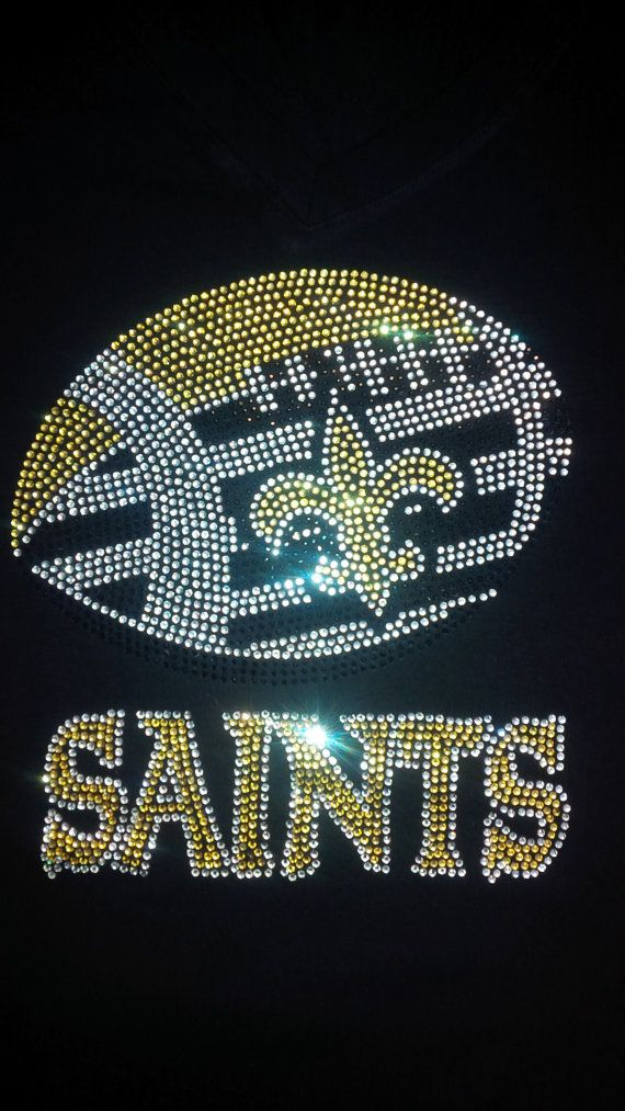 New Orleans Saints Football Crystal Sparkle Rhinestone Bling Transfer on Etsy, $17.99