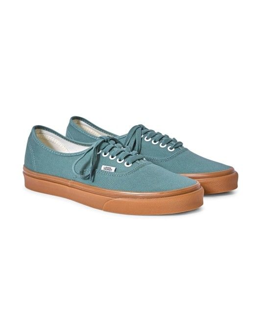 7f3cbb799428e9 Vans Authentic Canvas Plimsolls Green