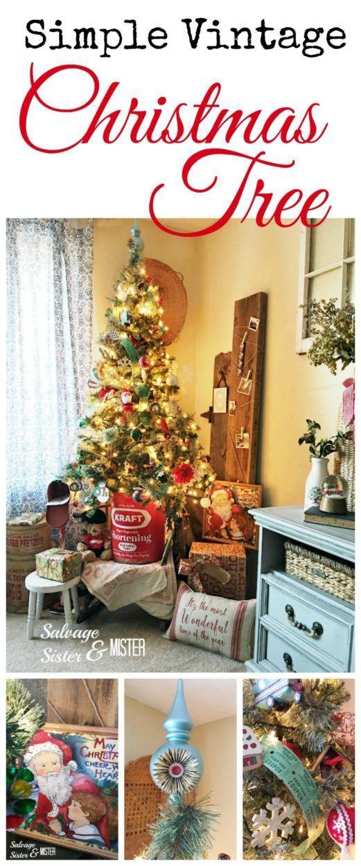 A Simple Vintage Christmas Tree 362 best