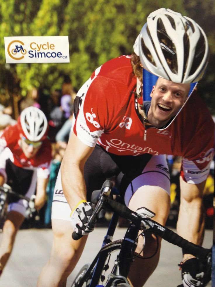 Simcoe County pro athlete, Andrew Watson, seeing what it's like to be the competition. www.cyclesimcoe.ca