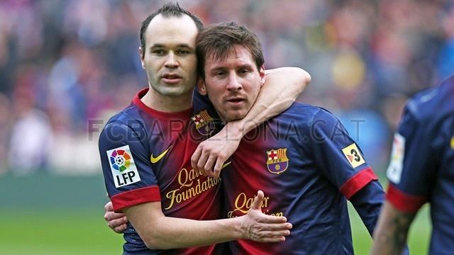 "Andrés Iniesta & Lionel Messi, ""Los Magos"", FC Barcelona | 2013-02-10 BARCELONA 6-1 GETAFE."