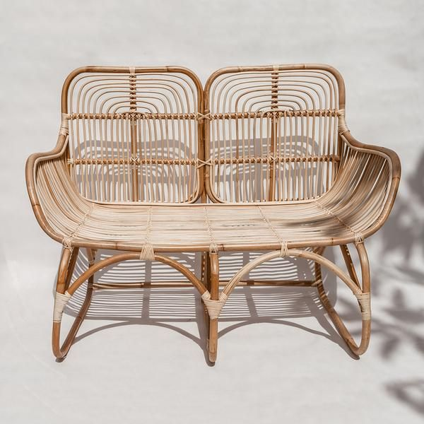 Lounge 2 In Rattan And Cane Rattan Loveseat Rattan Wooden