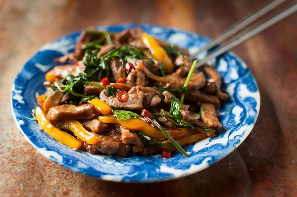 Stir-Fried Wild Duck - I marinated all day, left out the bamboo shoots, added mushrooms