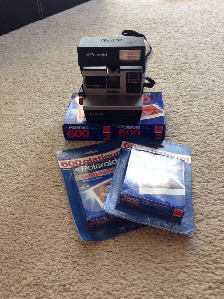 POLAROID CameraSun 600 LMS 600 Film 60 Sheets Untested Film Exp. 2/01, 11/02 #PolaroidSun600LMS