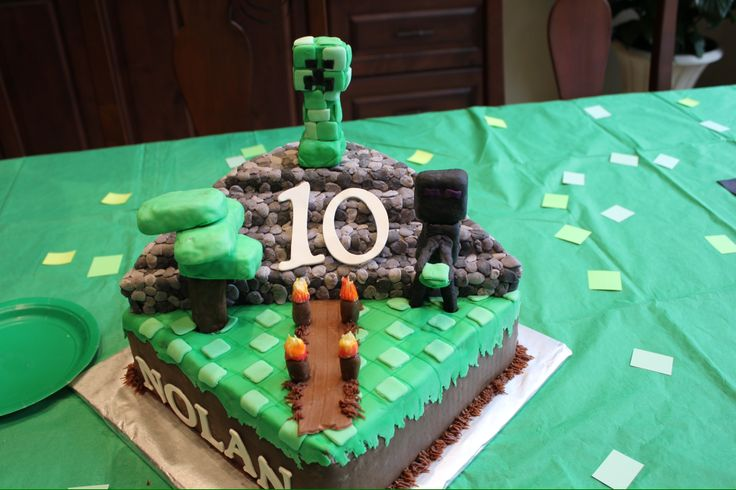 Birthday Cakes With Minecraft Theme