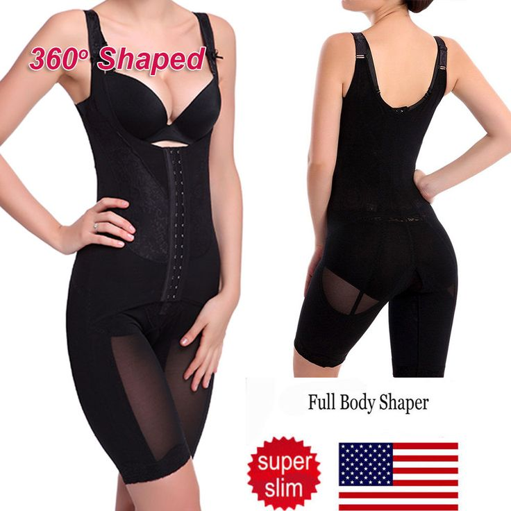 Women Full Body Shaper Waist Tummy Control Thigh Trainer Bodysuit Shapewear AP