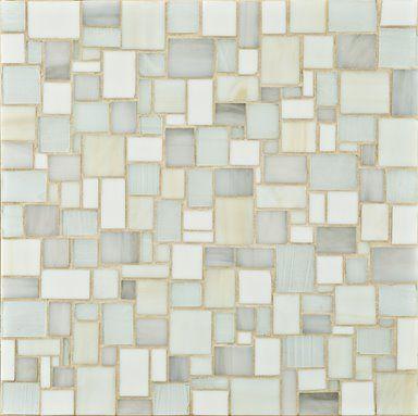 ann sacks erin adams glass mosaic tiles large offset pale