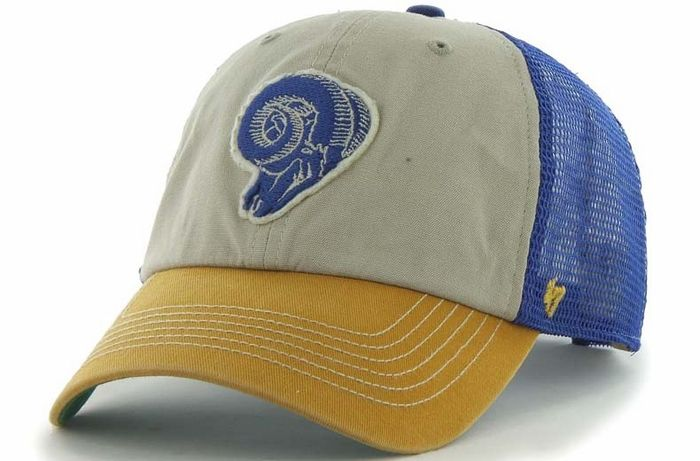 Los Angeles Rams 47 Brand McNally Throwback Mesh Back Adjustable Hat