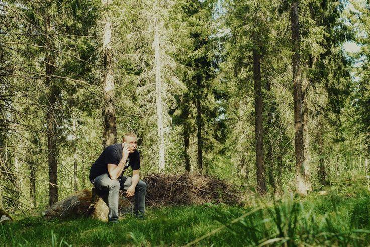 Kun takana on päivä sisätiloissa, niin voi pitää stopin metsätoimistossa. Juva, 6/2015