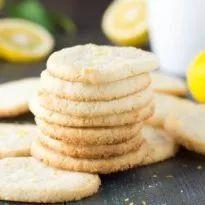 Lemon Almond Shortbread Cookies {Gluten Free} - Kristine's Kitchen