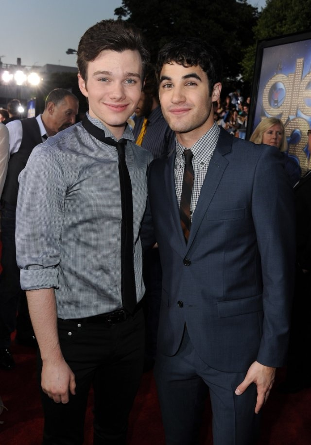 Darren Criss and Chris Colfer at event of Glee: The 3D Concert Movie