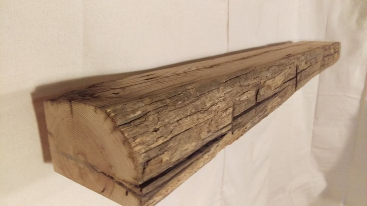 Reclaimed Mantel, American Chestnut, 5 1/2 inches thick, 8 inches deep, 66 inches long, 003