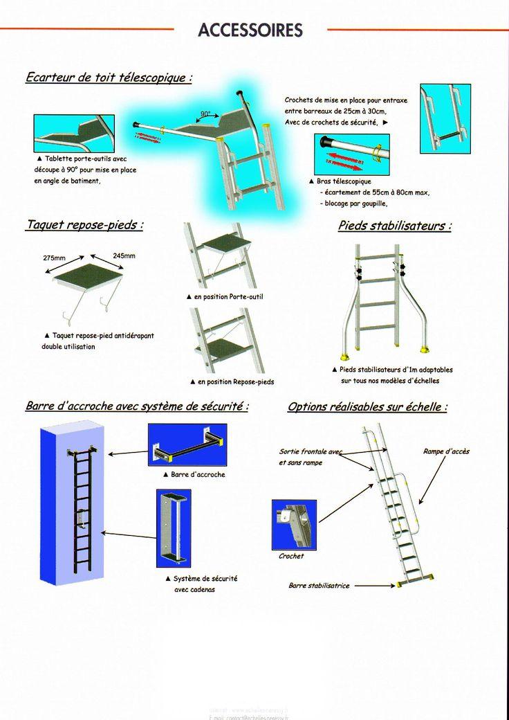 echelle transformable et coulisse à trois 3 plans aluminium de 2 mètres, 3 m,4 m, 5 m, 6 m, 7 m, 8 m, 9 m,
