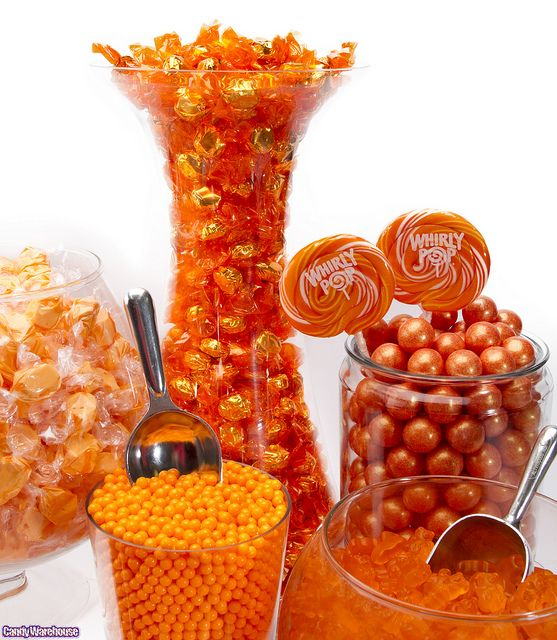 Orange Candy Buffet by candywarehouse, via Flickr