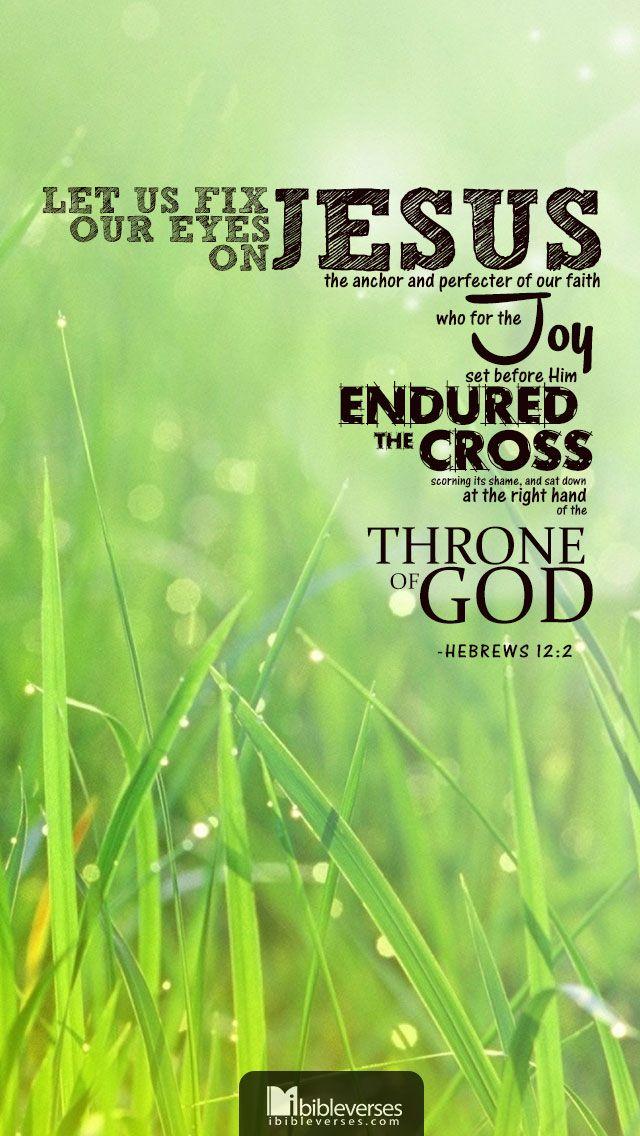 tendo os olhos fitos em Jesus, autor e consumador da nossa fé. Ele, pela alegria que lhe fora proposta, suportou a cruz, desprezando a vergonha, e assentou-se à direita do trono de Deus. Hebreus 12:2
