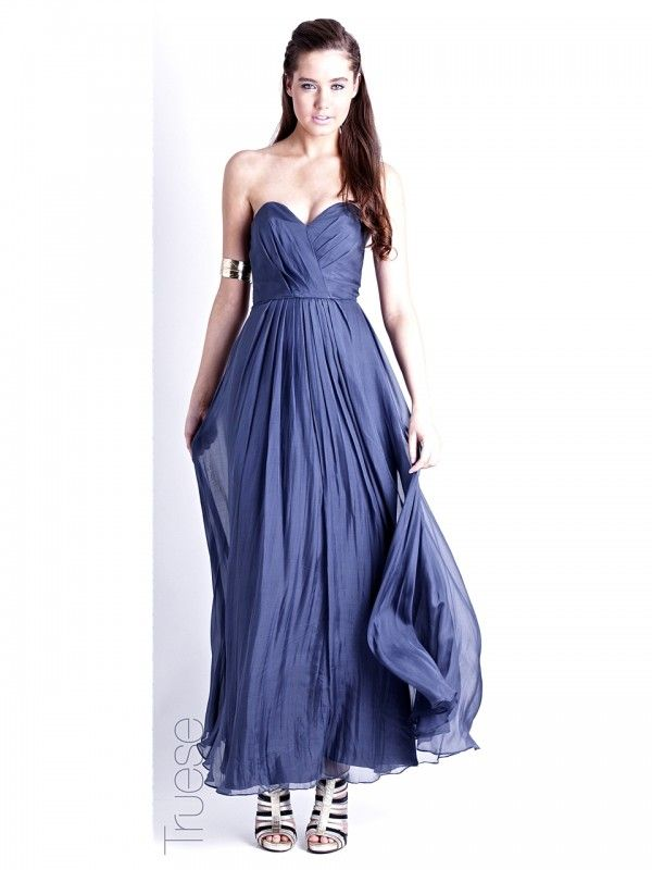 Bella Maxi Dress by TRUESE/WISH in Midnight Blue. Now: $310.00 #bridesmaid #maxi #tailored #glamorous