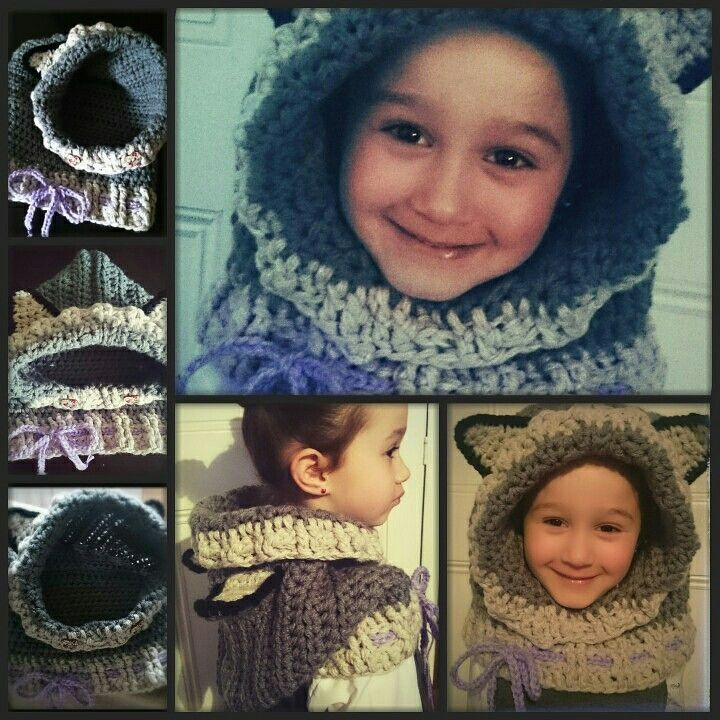 Wolf cowl,  warm and cosy, better than a hat...