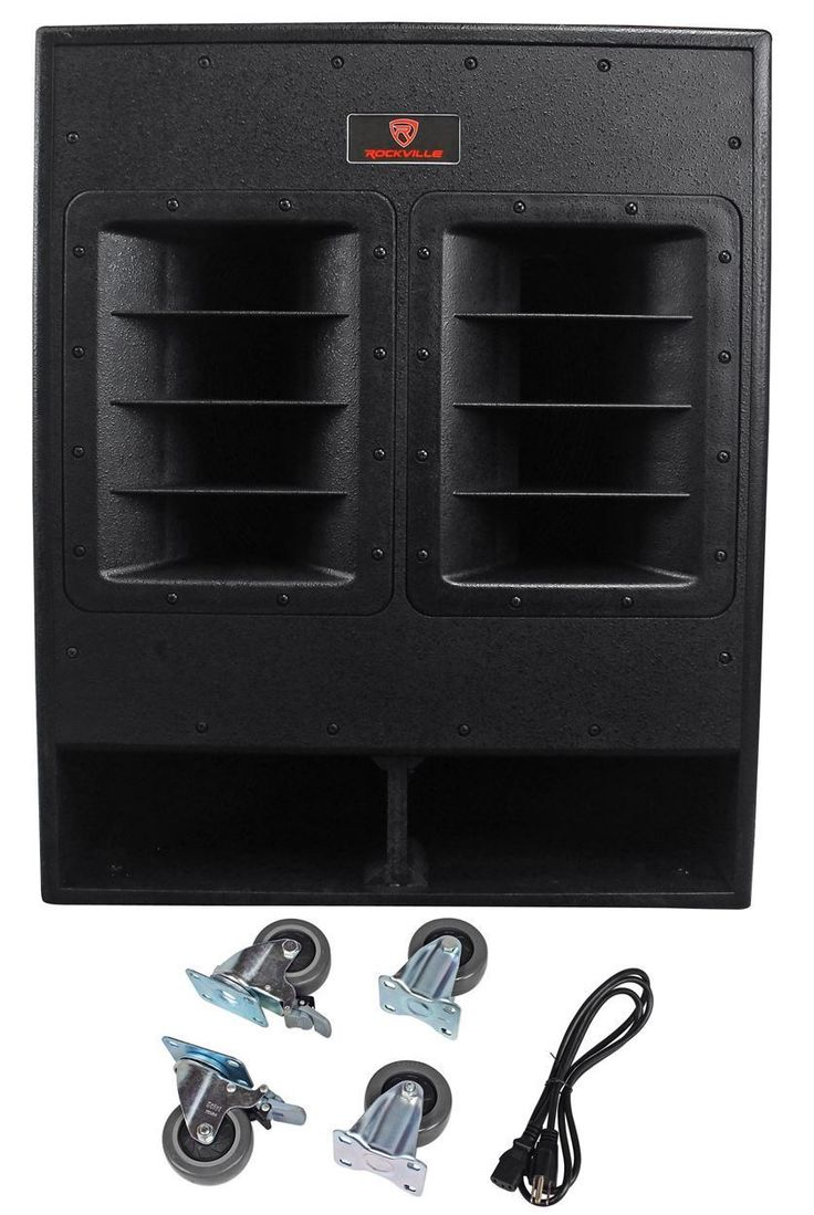 Rockville RBG18FA 18 3000w Active Powered Pro Subwoofer Folded Horn PA/DJ Sub