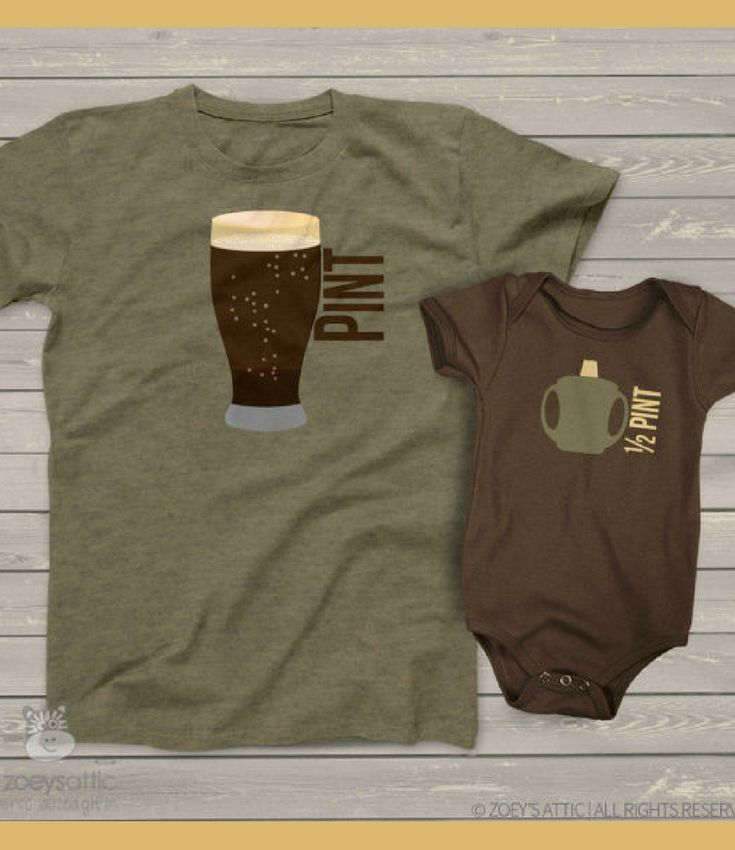 Pint and Half Pint Father and Son Shirts - Choose Bodysuit or Shirt - Baby Shower Gift Idea for Dad, Father's Day Gift Idea, Christmas Gift Idea for Dad, Father Son Bonding Time, Dad Birthday Gift Idea, Father Birthday Gift Idea for Father, Baby Boy Football Outfit, Boy Nursery Decor, Coed Baby Shower Gift Idea, Matching Father Son Shirts #ad #babyboyoutfits