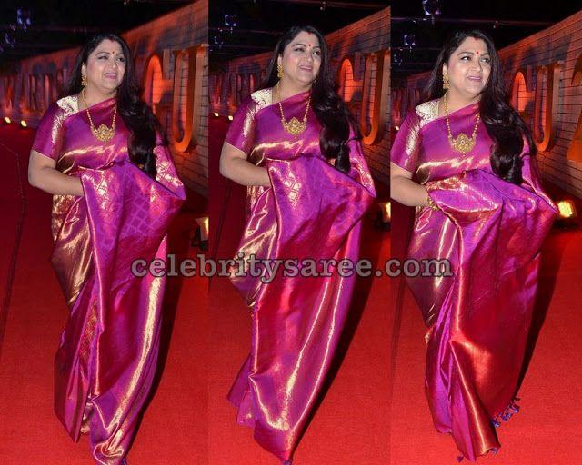 Kushboo Zee Cini Awards Telugu 2020 In 2020 Bridal Blouse Designs Saree Blouse Patterns Saree Collection