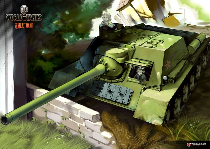 """Tank Illustrations """"Artist's Choice"""" Part8: SU-100 / KUROKURO   Illustration Column   World of Tanks"""