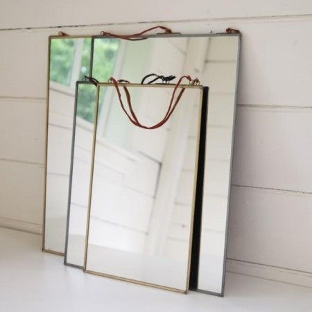 Design Vintage   Kiko Brass Mirror   Nkuku Mirror   Antique Brass